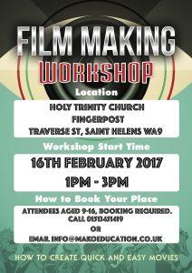 Poster for Filmmaking workshop