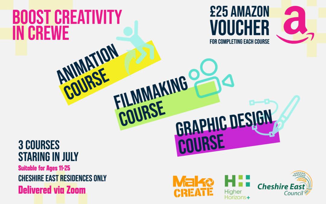Boost Creativity 2021 –  Creative Careers In Crewe